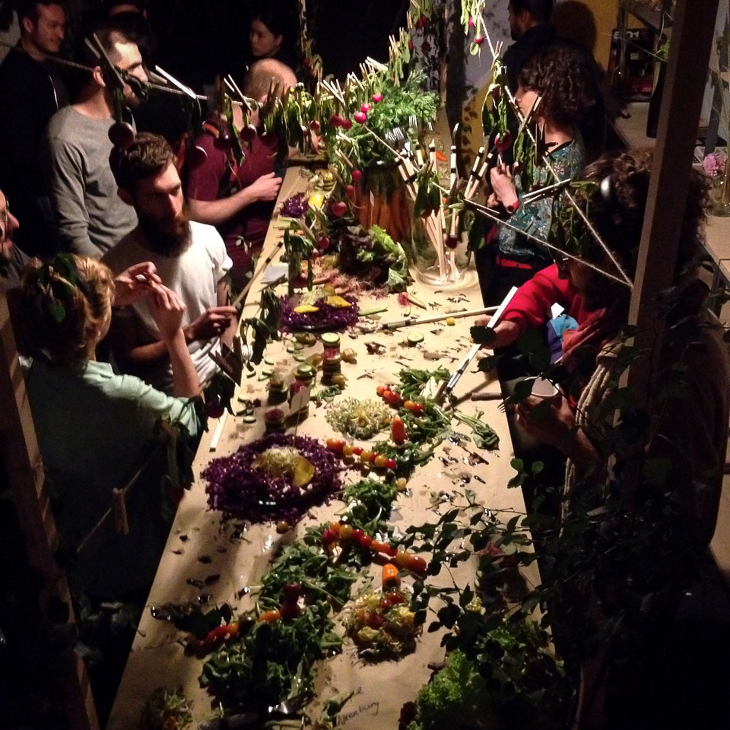Wild and Root Food Installation Berlin